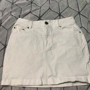 forever21 white mini skirt